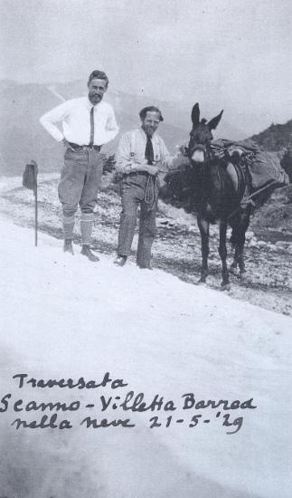 Traversata Scanno - Villetta Barrea nella neve, 21 maggio 1929