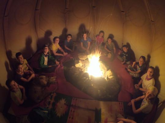Nella tenda indiana