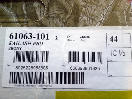 Etichetta Kailash Pro Leather